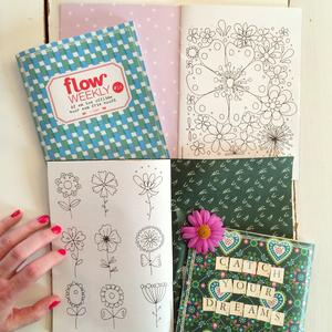 Susanne Randers flower doodles for flow weekly Instagram photo