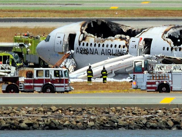 Vliegtuig crasht tijdens landing san francisc o