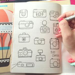 Susanne Randers camera doodles for flow weekly Instagram photo