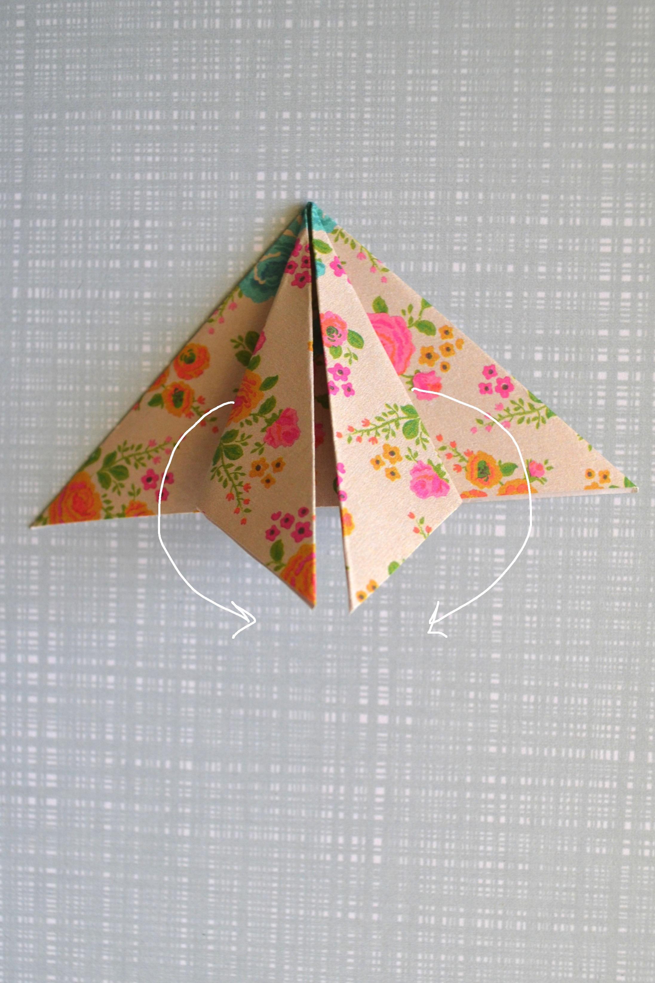 DIY origami ster foto 6 kopie