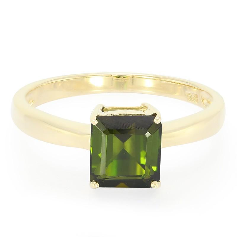 Anello In Oro Juwelo Con Una Tormalina Verde 4lQyn9
