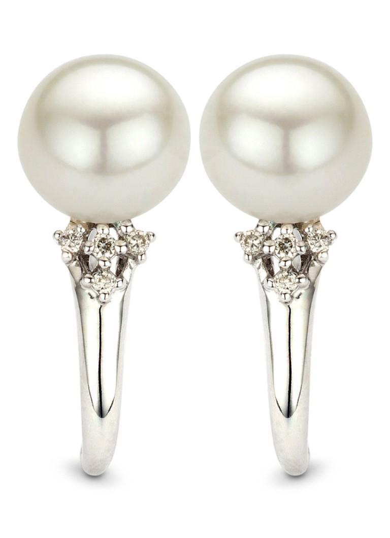 Sast Sortie Grâce À Pointe De Diamant Boucles D'oreilles En Or Blanc cool Browse Vente Pas Cher Classique Pas Cher En Ligne hkkxyfqZ