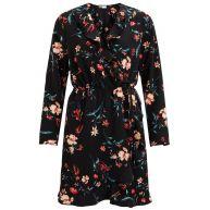 wikkel jurk met bloemenprint