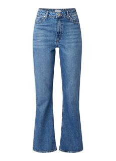 High rise flared fit cropped jeans