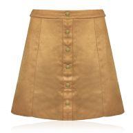 Cognac Suede Skirt-M