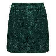 Crushed Velvet Skirt - Green