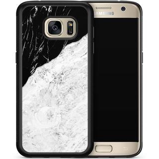 Samsung Galaxy S7 hoesje - Marmer zwart grijs