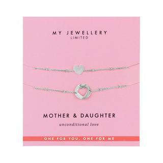 Mother & Daughter Bracelet Heart