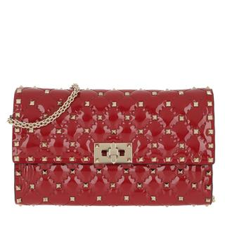 Tasche - Rockstud Spike Crossbody Bag Patent Small Rosso in rood voor dames - Gr. Small