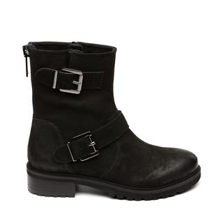 Worker Biker boots black nubuck dames