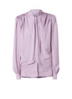 Cila blouse met strikkraag