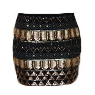 Gold Sequin Party Skirt