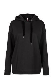 Dames Sweater hoodie glitter zwart
