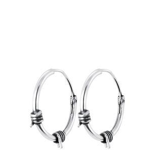 Zilveren oorbellen Bali 14mm