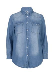 Dames Denim blouse blauw