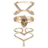 ALDO STROGNANO 3 PACK Ring goldcoloured