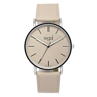 slimline horloge met een roze band