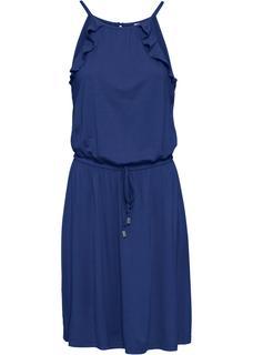 Dames jurk zonder mouwen in blauw