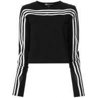 Y-3 long sleeve signature stripe T-shirt - Black