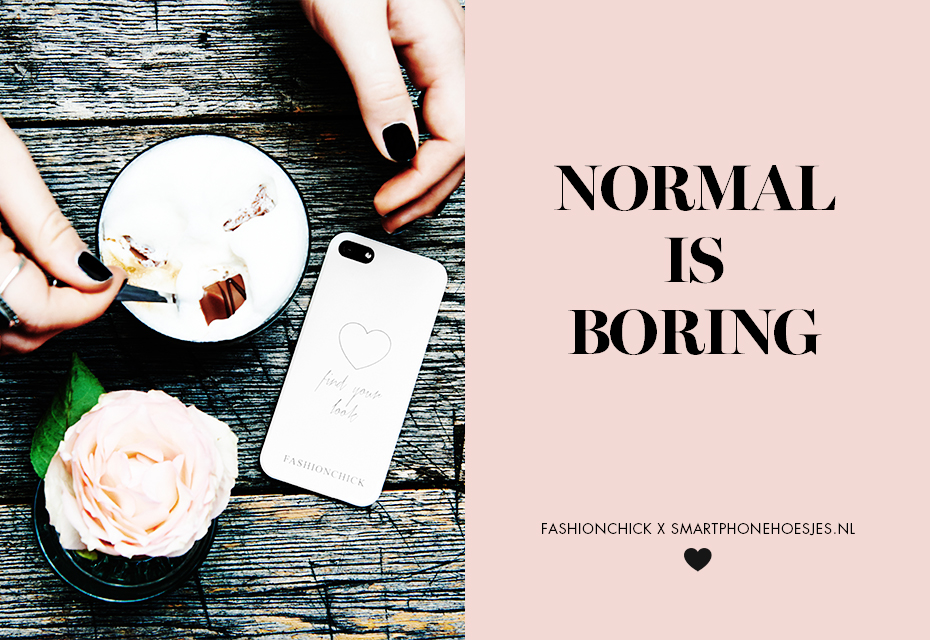 'Normal is Boring' phone case collection