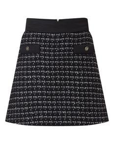 Minirok van tweed met lurex