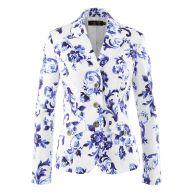 Dames blazer (nauwsluitend) lange mouw in wit - bpc selection