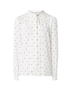 Violet blouse van crêpe met strikkraag