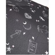 Paraplu met eenhoornprint Zwart