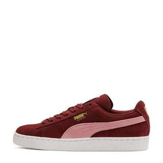 Classic suède sneakers donkerrood