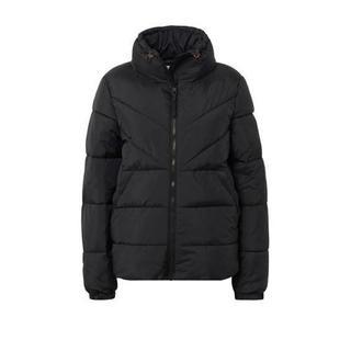 Denim gewatteerde winterjas zwart Gewatteerde jas (Dames) - Dames