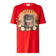 Gucci Loved T-shirt met opdruk en patches