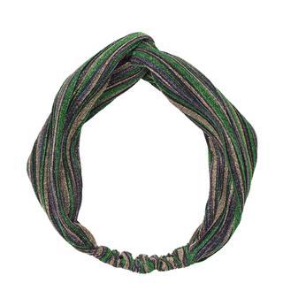 Haarband. Twist. Glitter. Groen. .