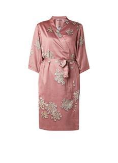 Sarai Lauren kimono van satijn met strikceintuur