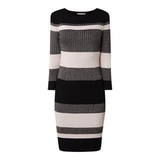 Gebreide jurk met blokstreepmotief