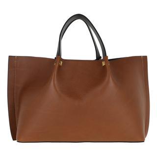 Tasche - Go Logo Shopper Leather Tan/Nero/Rouge in bruin voor dames