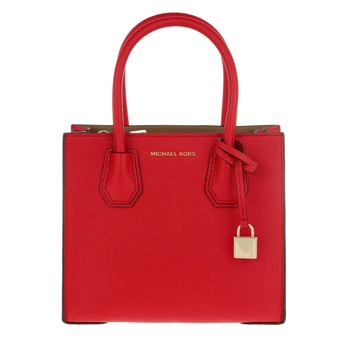 Del Michael Sacchetto Di Spalla Di Kors Del - Mercer Md Messaggero Rosso Brillante In Rosso Per Le Donne y8JSoV