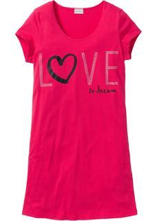 Dames nachthemd korte mouw in pink