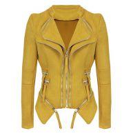 Suedine Biker Jacket 2.0 - Ocher