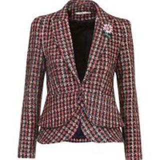 Tweed blazer Rood