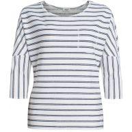 Anna Blue Gestreept Shirt Wijde Mouwen