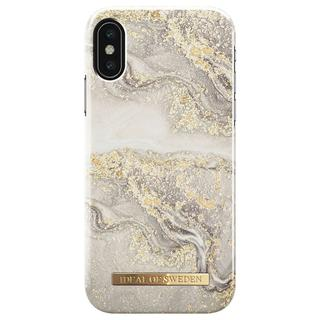 Fashion Backcover voor iPhone X / Xs - Sparkle Greige Marble