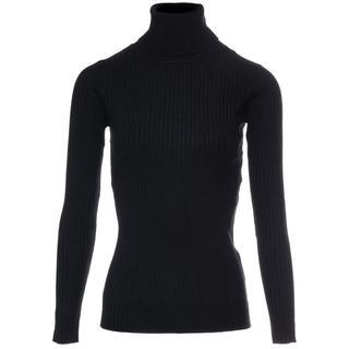 Basic coltrui zwart - Truien & Sweaters