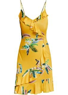 Dames jurk zonder mouwen in geel