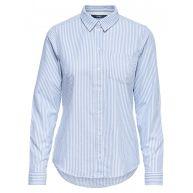 ONLY Gestreept Overhemd Met Lange Mouwen Dames Blauw