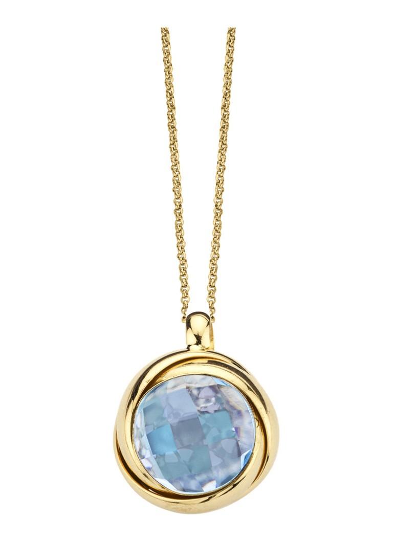 aankoop Diamond Point Geelgouden hanger Uitstekende Online hpvG1zYvg