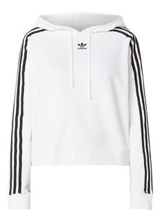 Cropped hoodie met logoborduring