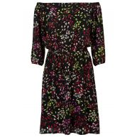 Zomerse off shoulder jurk Zwart