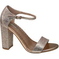 Rosé gouden sandalette glitters