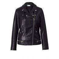 Imitatieleren jasje Angel of Style zwart