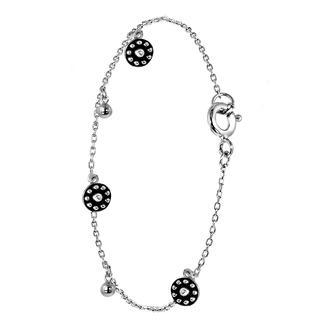 Zilveren armband rondjes&bolletjes Bali